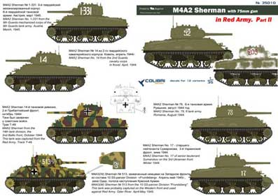 Colibri Decals 35010 M4A2 Sherman in Red Army Part II