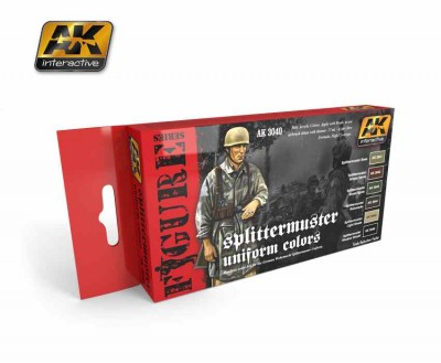 AK-Interactive AK-3040 SPLITTERMUSTER UNIFORM COLORS
