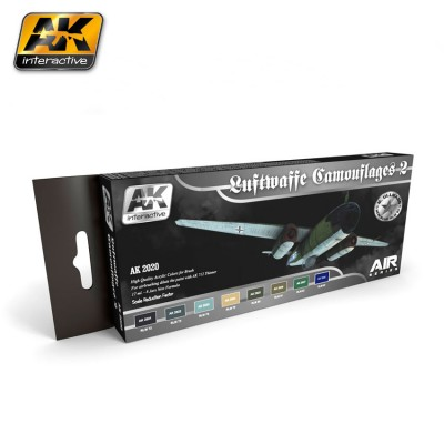 AK-Interactive AK-2020 LUFTWAFFE CAMOUFLAGES VOL.2 COLORS SET