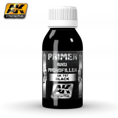 AK-Interactive AK-757 Primer and Microfiller (Black)