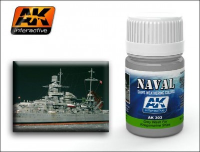 AK-Interactive AK-303 Grey Wash For Kriegsmarine Ships