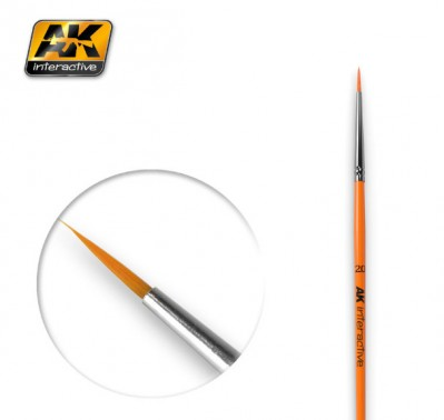 AK-Interactive AK-602 ROUND BRUSH 2/0 SYNTHETIC