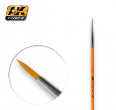 AK-Interactive AK-603 ROUND BRUSH 1 SYNTHETIC