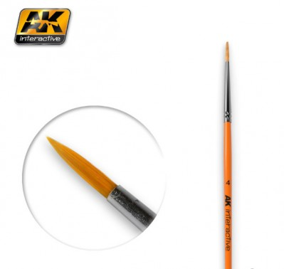 AK-Interactive AK-607 ROUND BRUSH 8 SYNTHETIC