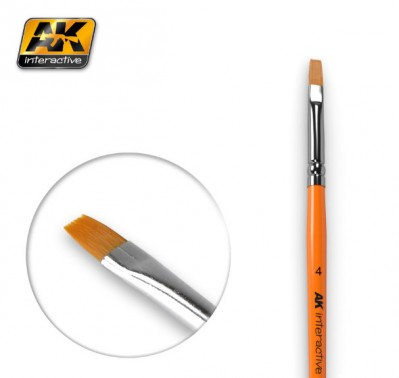 AK-Interactive AK-610 FLAT BRUSH 4 SYNTHETIC