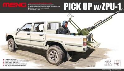 Meng VS-001 Pick Up w/ZPU-1 1/35