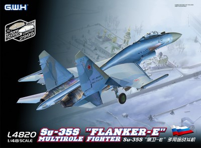 Great Wall Hobby L4820 Su-35S Flanker E Multirole Fighter (Су-35С)