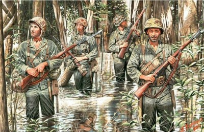 MasterBox MB3589 US Marines in Jungle, 1/35