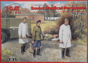 ICM 35551 Soviet Medical personnel, 1/35