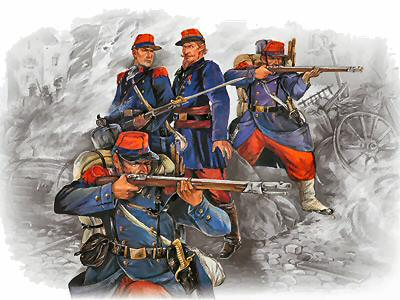 ICM 35061 French Prussian War 1870-71 French Line Infantry, 1/35