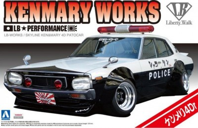 Aoshima 01068 LB Works Ken Mary 4Dr Patrol Car