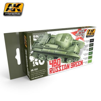 AK-Interactive AK-553 4BO RUSSIAN GREEN MODULATION SET