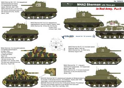 Colibri Decals 72023 M4A2 Sherman in Red Army Part II