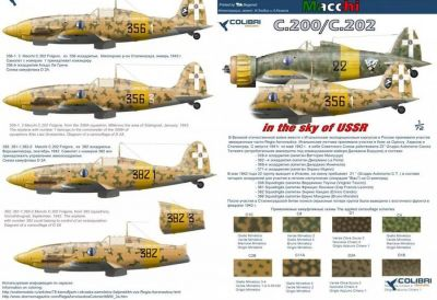 Colibri Decals 72033 ltalian fighters in the sky of the USSR (MC. 200/ MC. 202)